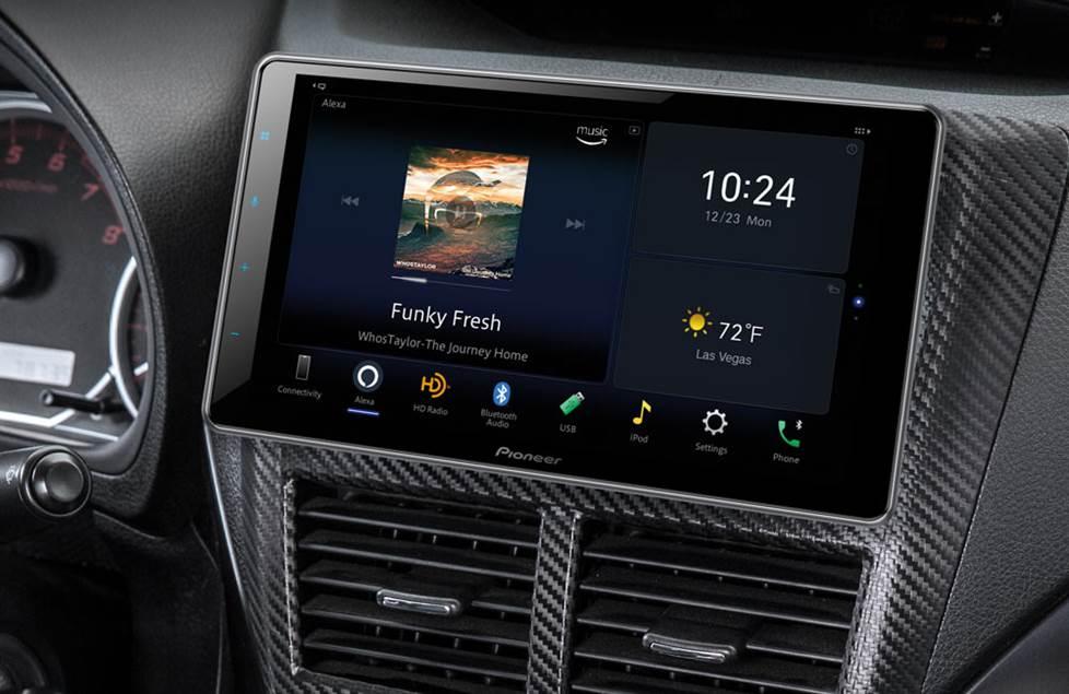 Systemy stereo z dotykowym ekranem